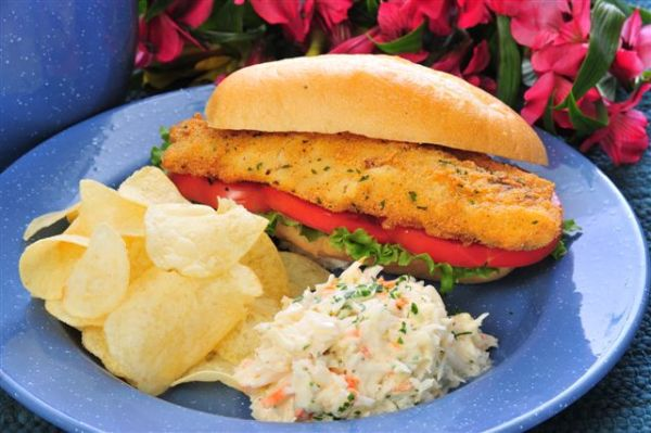 fisherman's favorite mullet sandwich
