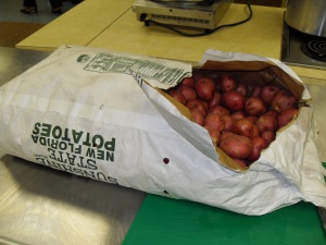 50 lb bag of Florida red potatoes, yes they were all used.