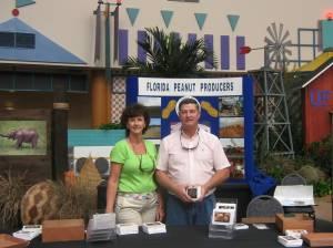 Rhonda and Ken Barton showcase Florida Peanuts at the Epcot International Flower & Garden Festival