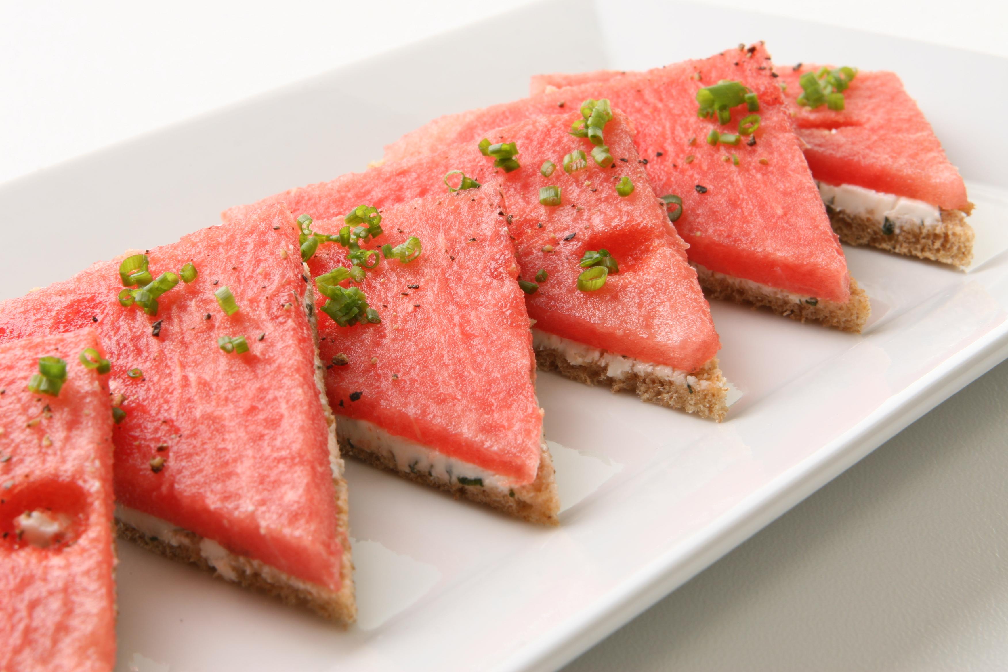 Watermelon - Open Face Watermelon Sandwiches 4