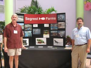 Chris Watts and Andy Jackson showcase Segrest Farms products