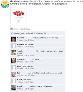 fb radish ad comments