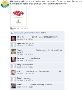 fb radish ad comments