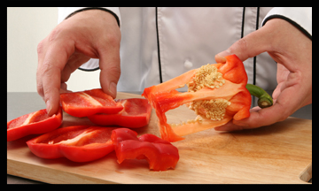 how to keep cut peppers fresh