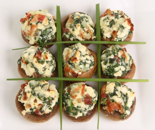 mushrooms stuffed with feta and spinach yield approximately 40 stuffed ...